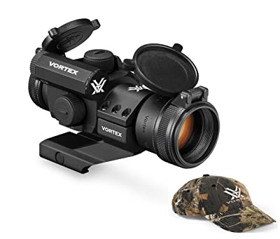 Vortex Optics StrikeFire 2 Red/Green Dot Sight with Cantilever Mount (SF-RG-501) and FREE Vortex Hat