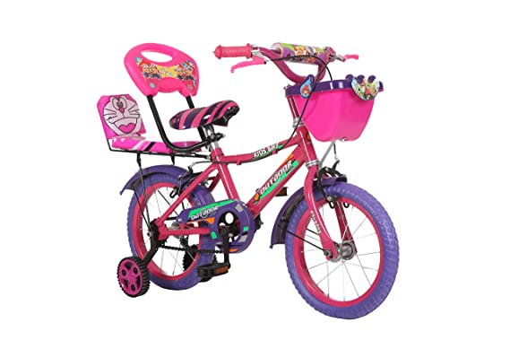 Outdoor Cycles Ridewell 14 Inches Bicycle Pink Purple for 2.5 to 4.5 Age Group (Semi Assembled with Assembly Instruction Manual & Tool Kit)