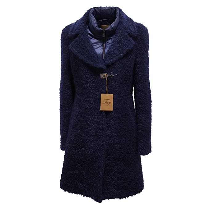 more photos 36efc a7bfd 3985R cappotto donna FAY blu giaccone coat woman [M]: Amazon ...