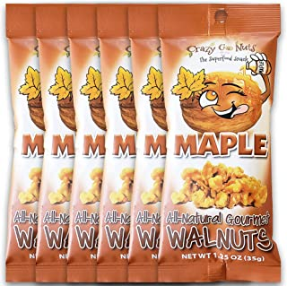 product image for Crazy Go Nuts Walnuts - Maple, 1.25 oz (6-Pack) - Healthy Snacks, Vegan, Gluten Free, Superfood - Natural, Non-GMO, ALA, Omega 3 Fatty Acids, Good Fats, and Antioxidants