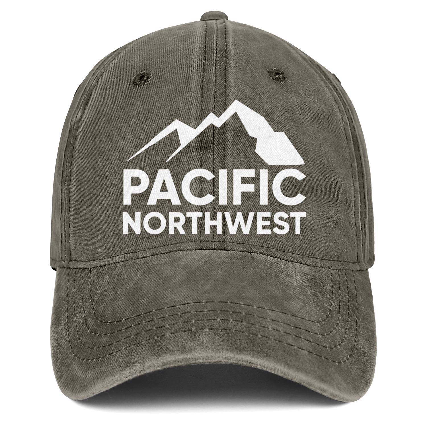 Pacific Northwest Oregon Denim Baseball Hats Unisex Men Cool Adjustable Mesh Driving Flat Caps