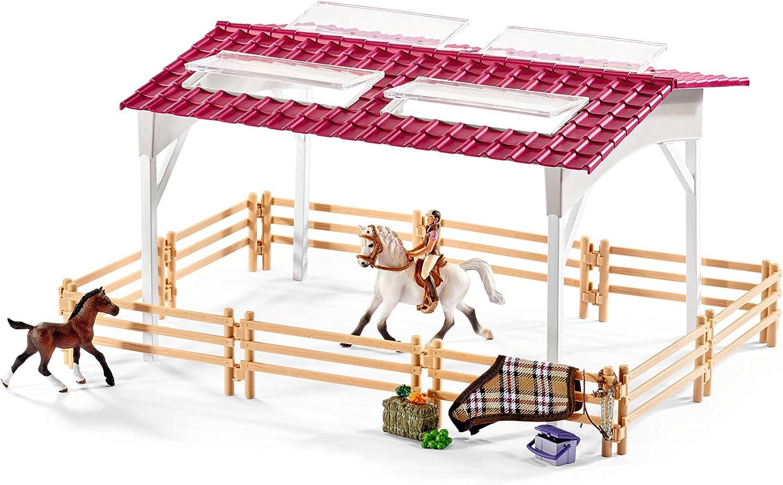 Schleich Horse Club équestre avec cavalière et chevaux écurie étable 42344