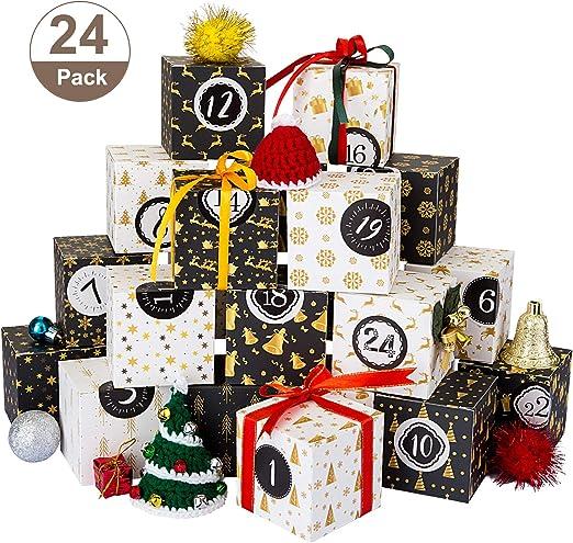 Kesote 24 Cajas 7x7x7cm Cajas de Caramelos Dulces Bombones con 24 ...