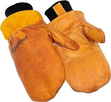 RefrigiWear Warm Fleece Lined Insulated Cowhide Mitten Gloves XLarge 0317RGLDXLG