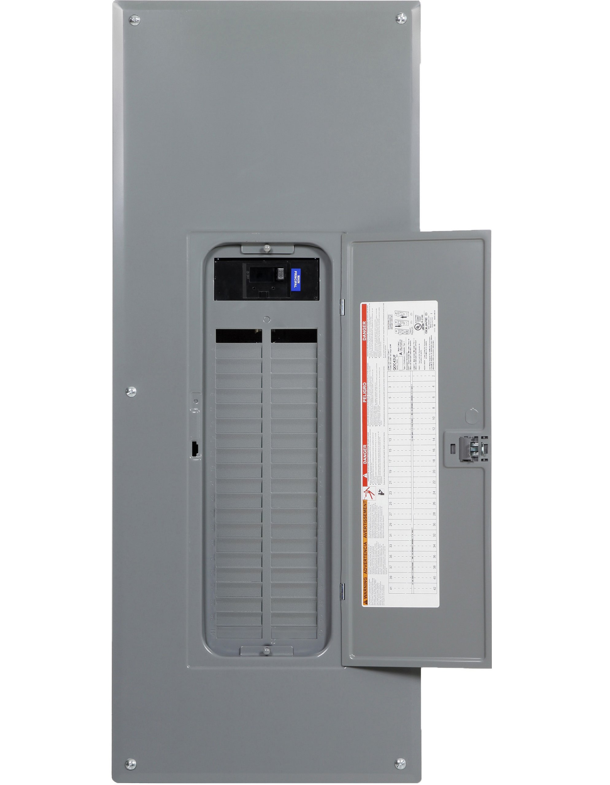 Square D by Schneider Electric QO Plug-On Neutral 200 Amp Main Breaker 42-Space 42-Circuit Indoor Load Center with Cover by Square D by Schneider Electric