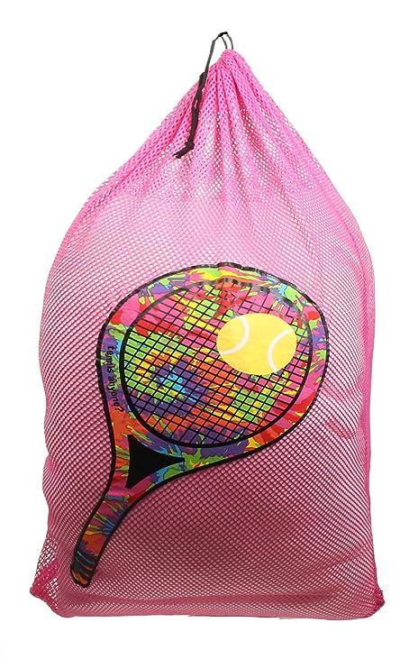 Amazon.com: Gilbin Matching Mesh Laundry Or Sock Bag with Drawstring For Sleep Away Camp (Laundry Bag, Tennis Racket): Home & Kitchen