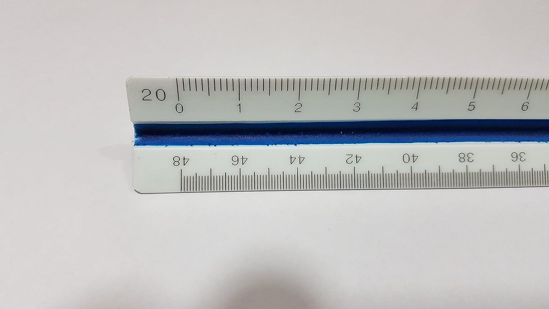 Ferocious Viking Products R/ègle /échelle triangulaire Engineering avec des stries de couleur