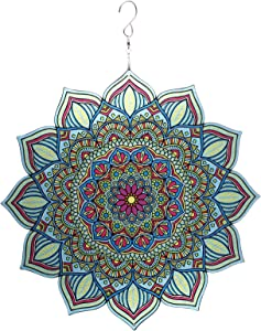 Wind Spinner Outdoor Metal Garden Spinners for Yard Hanging Swivel Stainless Flower Steel Lawn Decoration Crafts Gardens Ornaments Yards Art Outdoors Weather Catchers(2.Green Mandala)