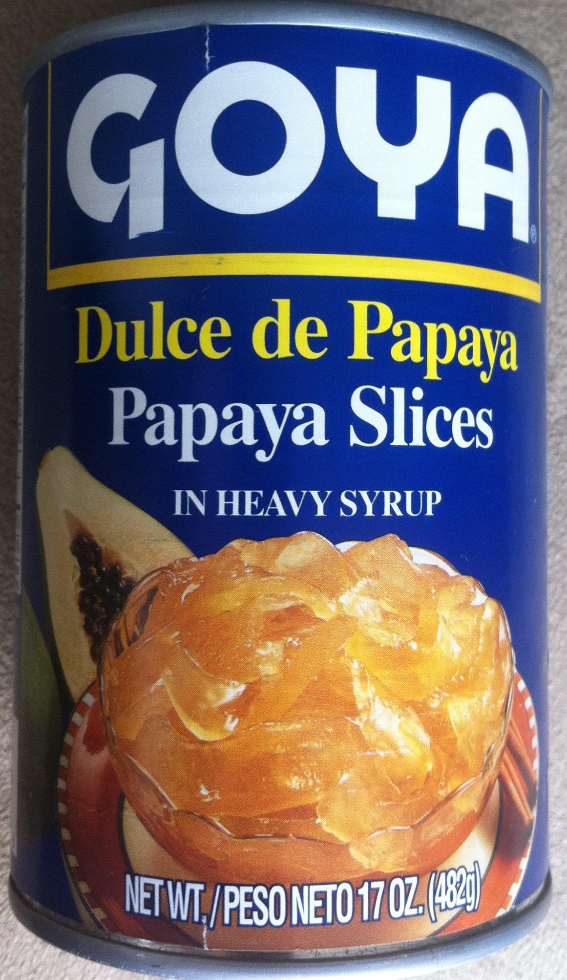 Goya - Dulce de Papaya (Papaya slices in heavy syrup) 4 pack, 17oz each