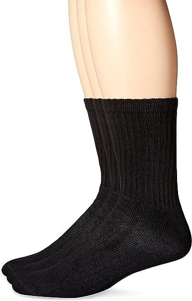 Dockers Mens 3 Pack Enhanced and Soft Feel Cushion Crew Socks Navy Assor.. New