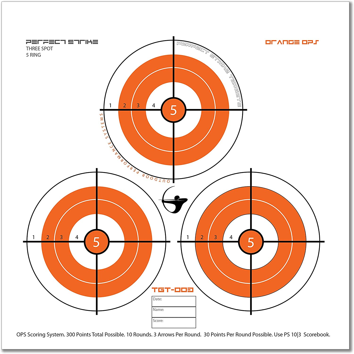 12 x 12. Great for improving accuracy 24 Targets. Perfect Strike ARCHERY System Targets ORANGE OPS No Heavy paper practice targets Replacement faces to refresh portable targets 003