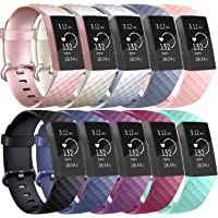 Vancle Bands Compatible with Fitbit Charge 3 Bands, Classic Soft Replacement Wristband Sport Strap for Fitbit Charge 3 and Charge 3 SE Fitness Activity Tracker Women Men Small Large