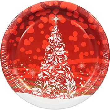 Artstyle Holiday Glimmer Red Paper Plates 10.25 Inch 80 Count  sc 1 st  Amazon.com & Amazon.com: Artstyle Holiday Glimmer Red Paper Plates 10.25 Inch ...