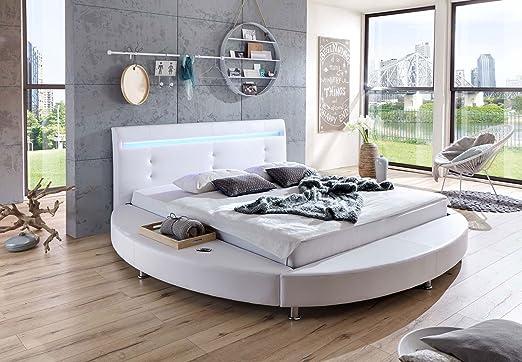 SAM® Diseño Redondo Bastia, Cama en Color Blanco, con ...