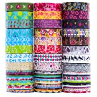 24 Rolls Washi Tape Set, 8mm Wide Decorative Masking Tape,Festival Gift Wrapping Party Supplies