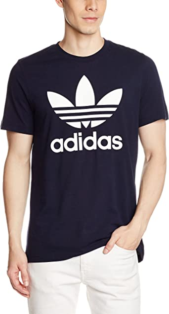 adidas Originals Camiseta de Manga Corta para Hombre, diseño del trébol de la Marca en la Parte Delantera: Amazon.es: Ropa y accesorios