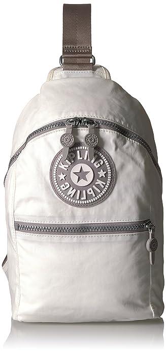 ce11fb97e5 Kipling Bente Solid Mini Sling Backpack, Lacquer Pearl: Amazon.co.uk ...