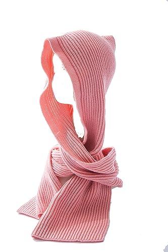 Mujer Color Sólido Encapuchado Bufanda De Punto