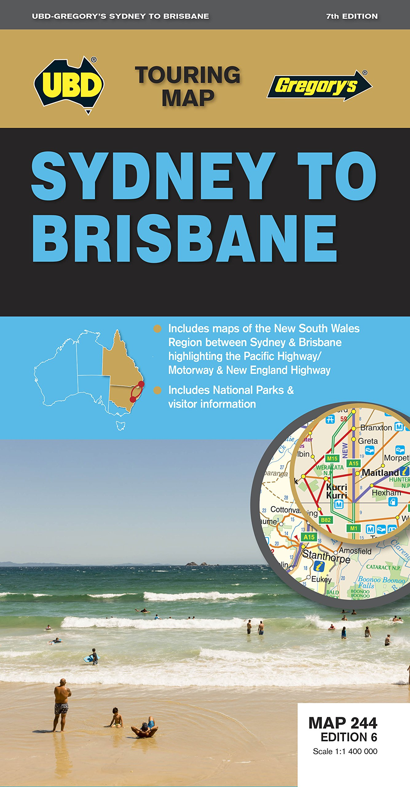 Read Online Sydney to Brisbane Map 244 7th ed (Touring Map) ebook