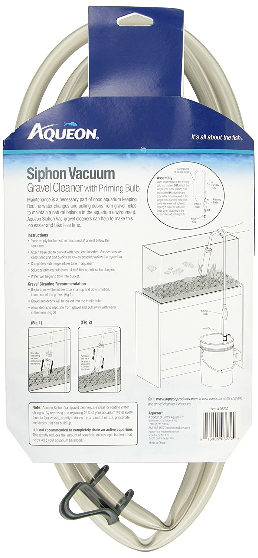 Amazon Aqueon Aquarium Siphon Vacuum Aquarium Gravel Cleaner