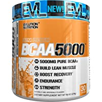 Evlution Nutrition BCAA5000 Powder 5 Grams of Premium BCAAs, 30 Servings (Peach Lemonade)