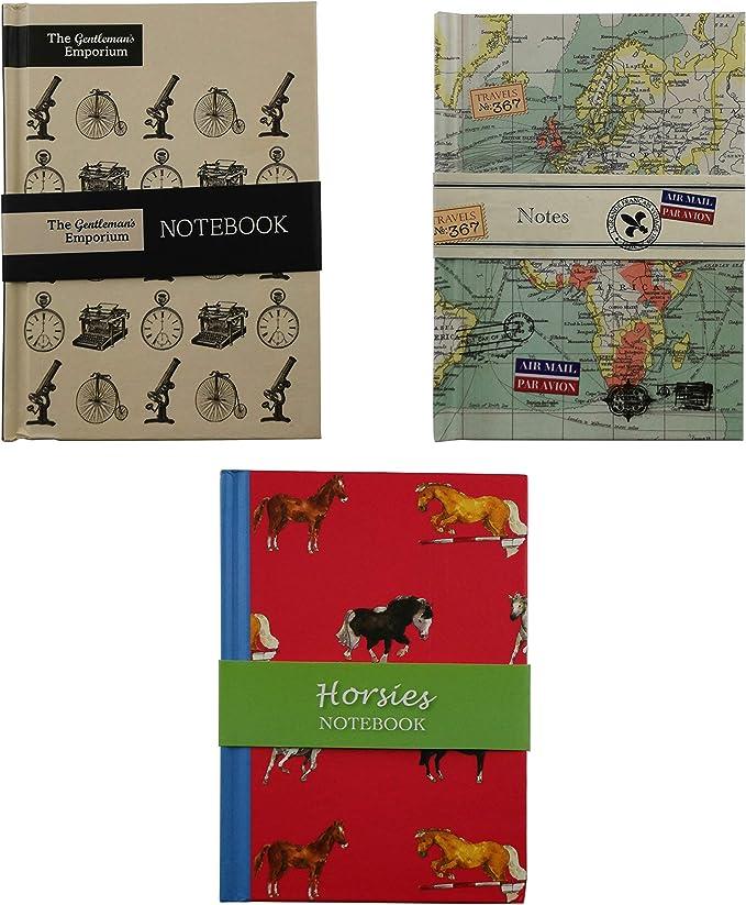 Robert Frederick- Pack 3 Libretas con tapa dura de Dibujo, con páginas de 1 ralla, tamaño A6 148mm x 105mm (Pack de 3 libretas): Amazon.es: Oficina y papelería