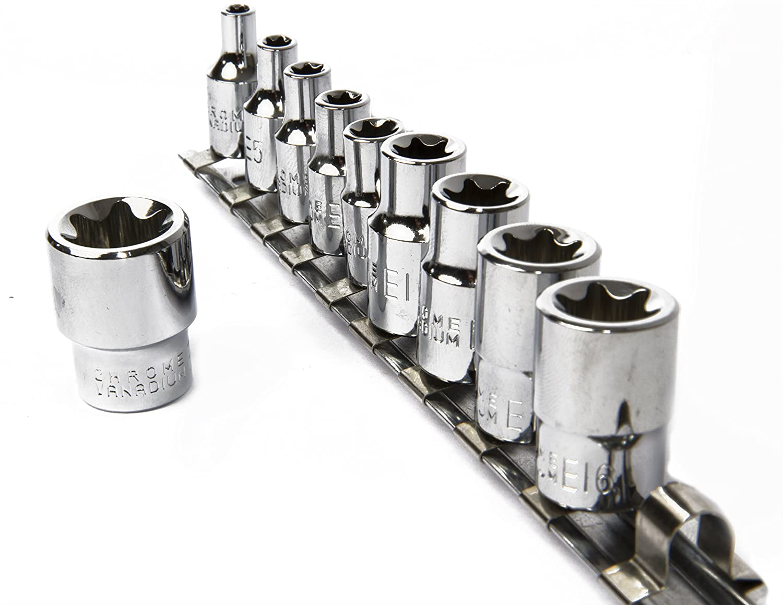 E18 eHomeA2Z 11 Pc E-Torx Female Star Socket Set CR-V Steel E4