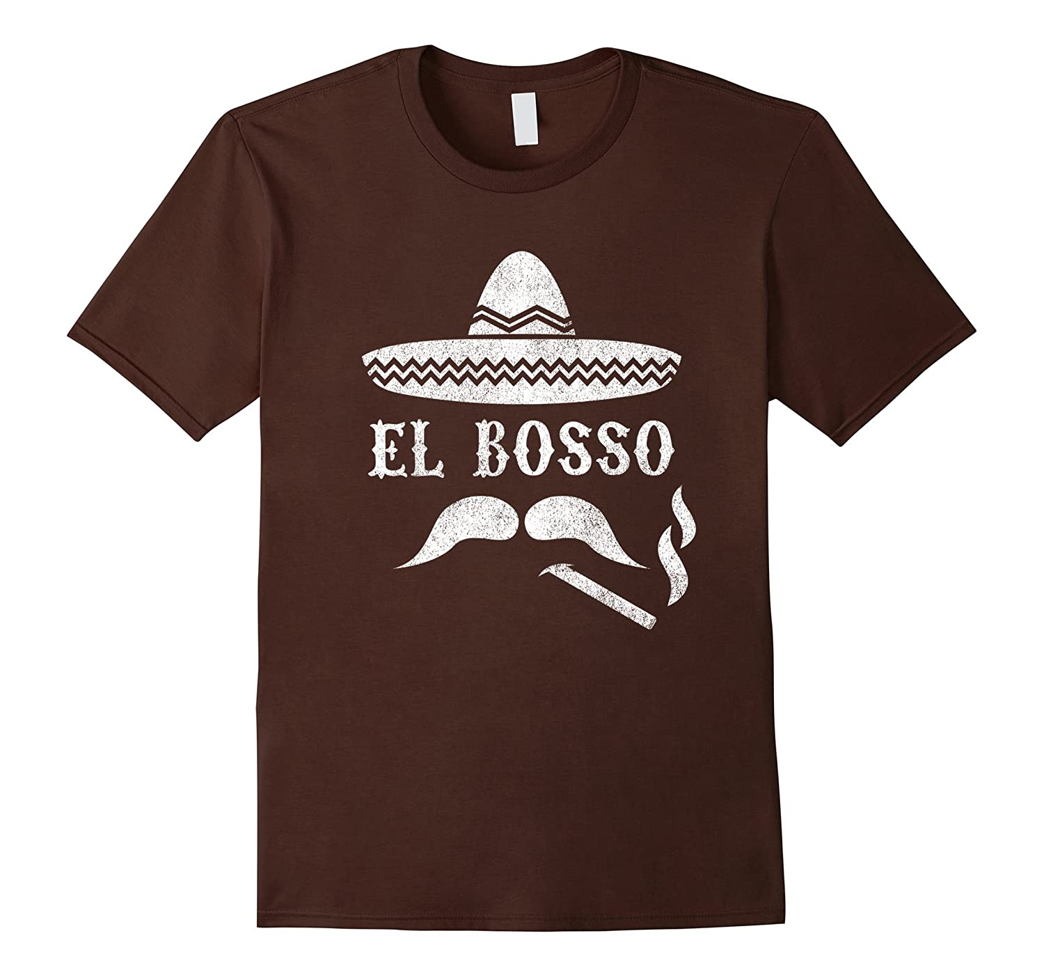 El Bosso T-Shirt - Cinco De Mayo Boss Sombrero Cigar Shirt-TH