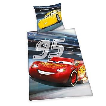 Herding Disney Cars 3 Bettwäsche Set Wendemotiv Leuchtend Im