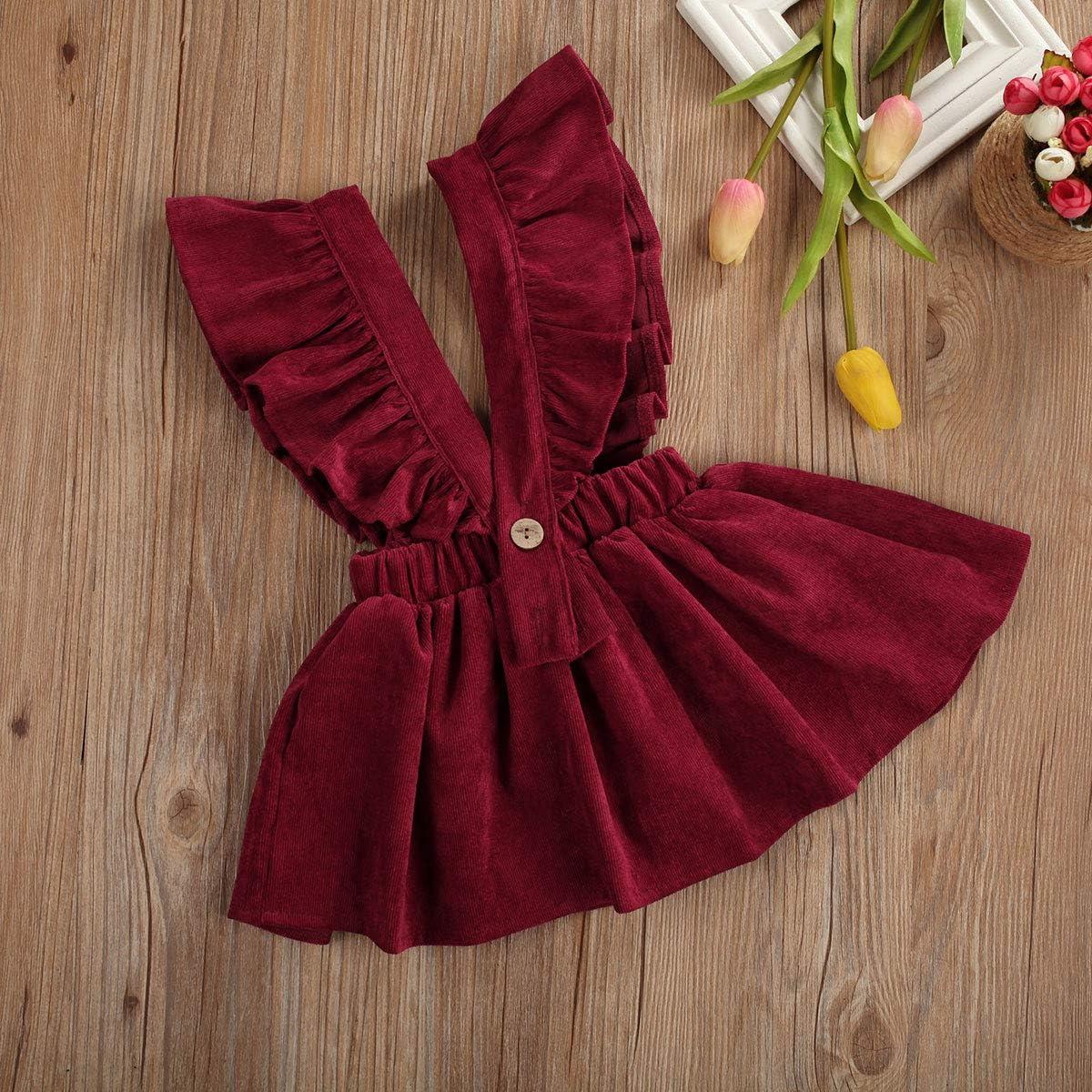 Toddler Baby Girls Strap Suspender Skirt Overalls Tutu Skirts Casual Infant Baby Dress Sundress