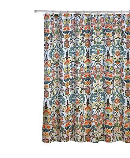 Amazon Emery Fabric Shower Curtain 70x70 Colorful Floral