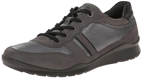 Ecco Mobile III - Zapatos con Cordones de Piel, Mujer, Color Negro, Talla 40