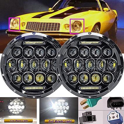 Para Chevrolet Chevy Camaro 1967 - 1981 LED 7 Inch faros alto/bajo ...