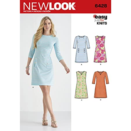 New Look Misses Knit Dresses Sewing Pattern, Paper: Amazon.co.uk ...