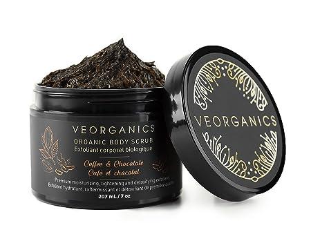 Organic Coffee Chocolate Body Scrub by VeOrganics – Premium Moisturizing, Tightening and Detoxifying Exfoliant