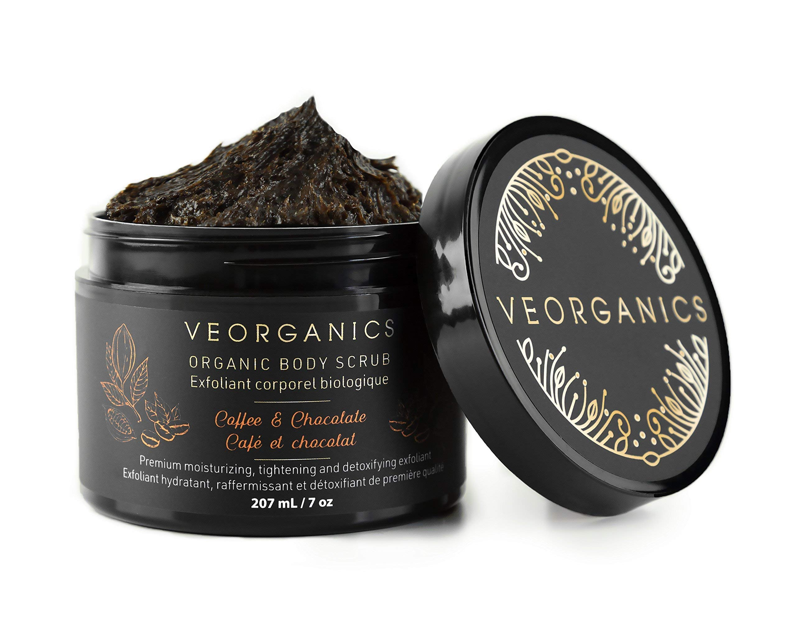 CDM product Organic Coffee & Chocolate Body Scrub by VeOrganics - Premium Moisturizing, Tightening and Detoxifying Exfoliant big image