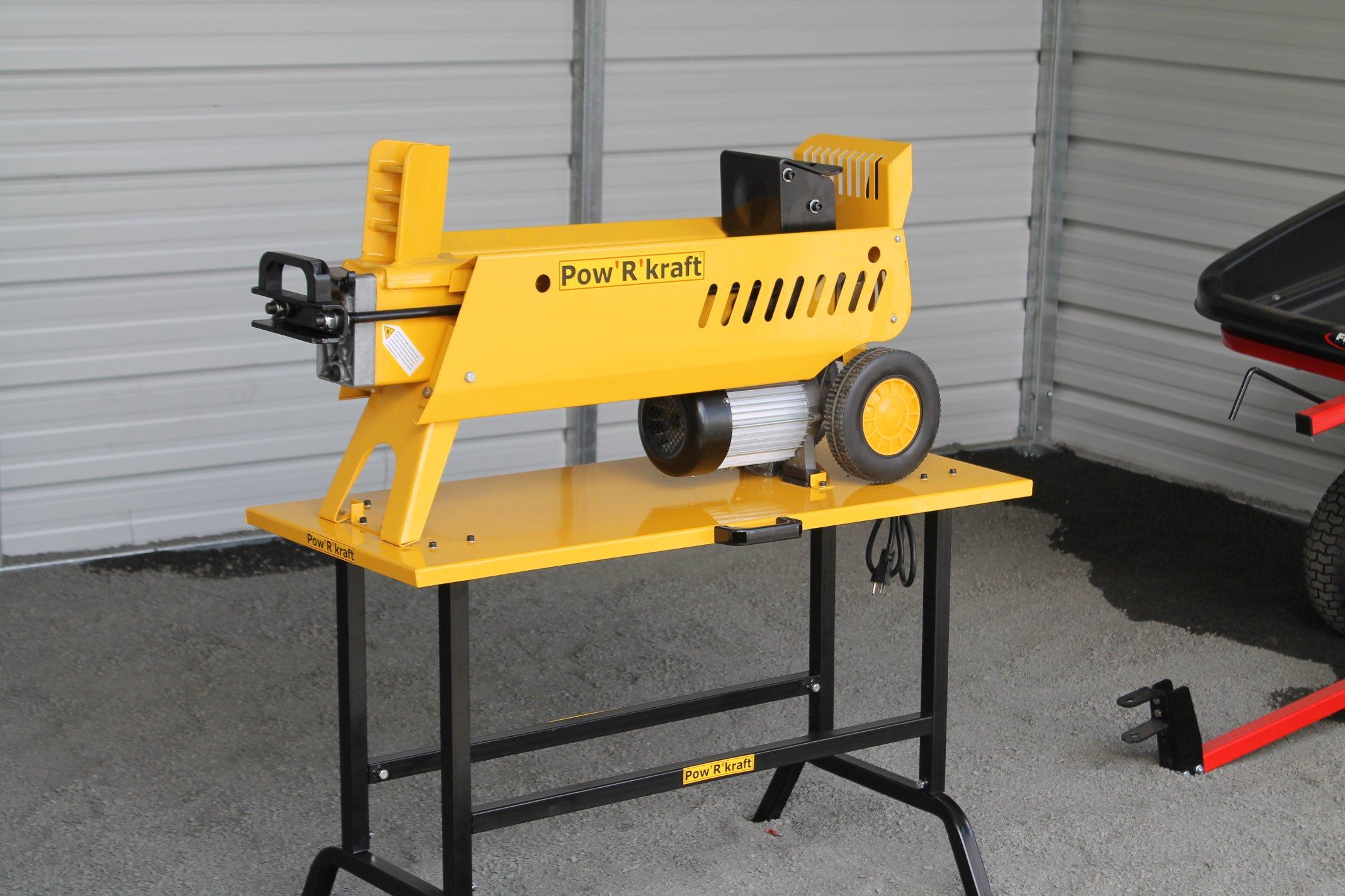 Log Splitter,7-Ton Pow'R'kraft w/ 2-Speed~Power Stroke & Stand (PK65575+02960)