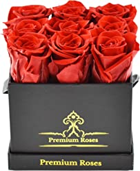 Real Cut Roses That Last 365 Days - Preserved Real Roses in Box (Roses in The Box, Best Gift for Her, Anniversaries, Birthdays & Valentines Day)