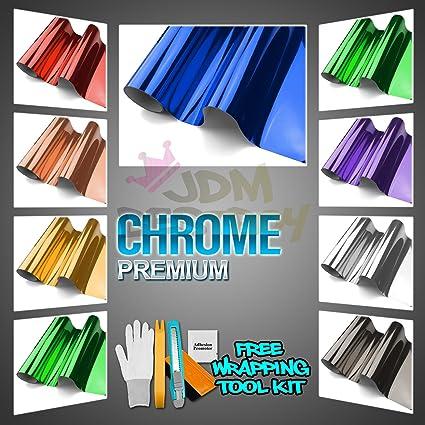 Premium Silver Chrome Car Vinyl Wrap Sticker Decal Film Sheet with Bubble  Air Free Release - 4