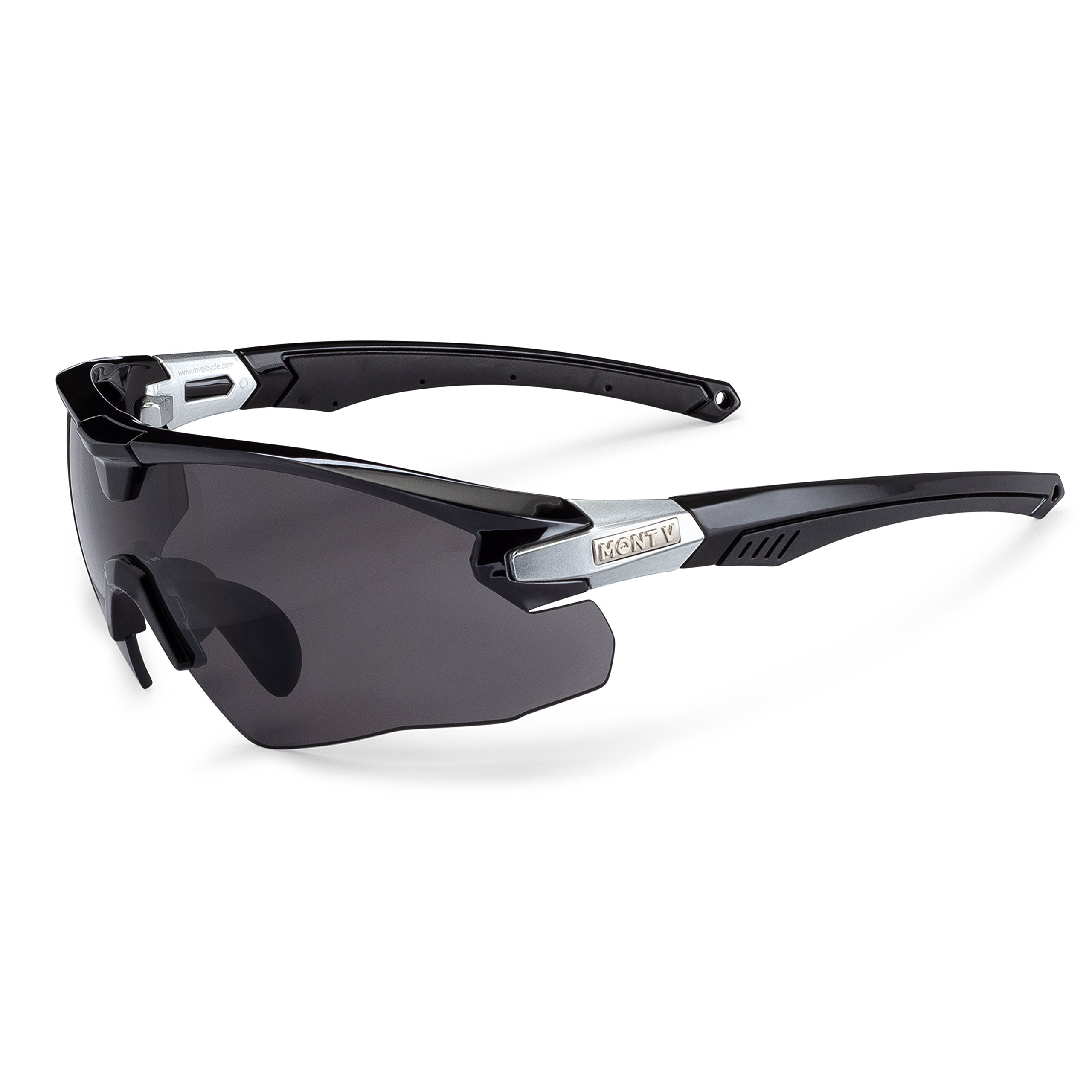Mont Ventoux Sport Sunglasses for Women Men - Cycling Running Shooting Golf Fishing Baseball Driving Hiking 100% UV Protection Adjustable Nose Pads TR90 NZZ Unbreakable Frame