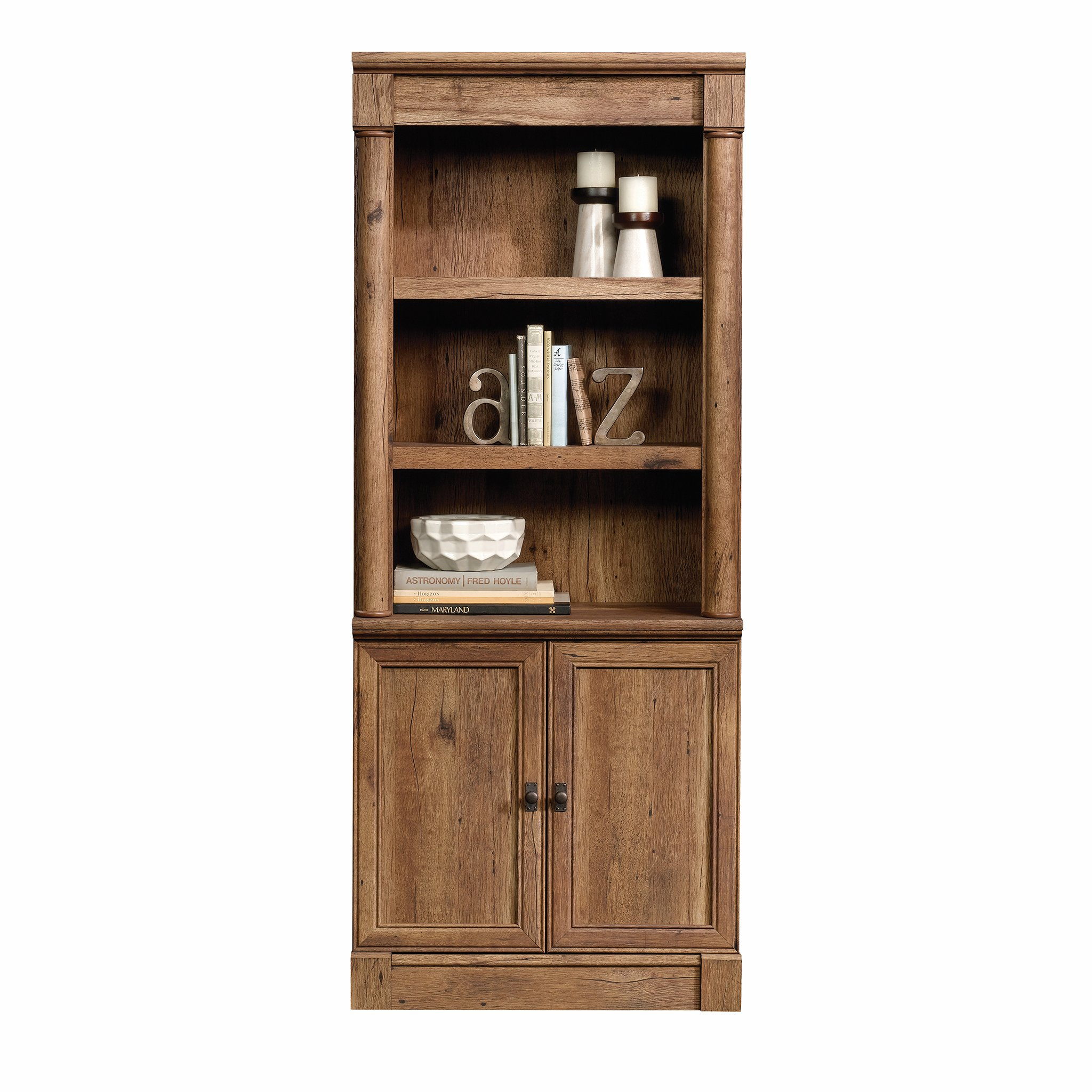 Sauder 420609 Palladia Library with Doors, L: 29.37'' x W: 13.90'' x H: 71.85'', Vintage Oak finish by Sauder (Image #10)