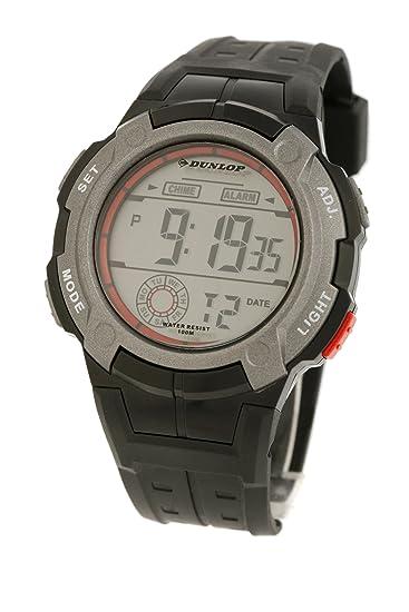 Dunlop DUN-92-G07 Iron - Reloj de caballero de cuarzo, correa de goma color negro: Amazon.es: Relojes