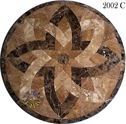 flooring decoration entrance detail medallion carpet product stone waterjet inlay floor marble