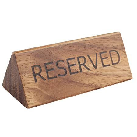 t g woodware acacia reserved sign single reserved signs table