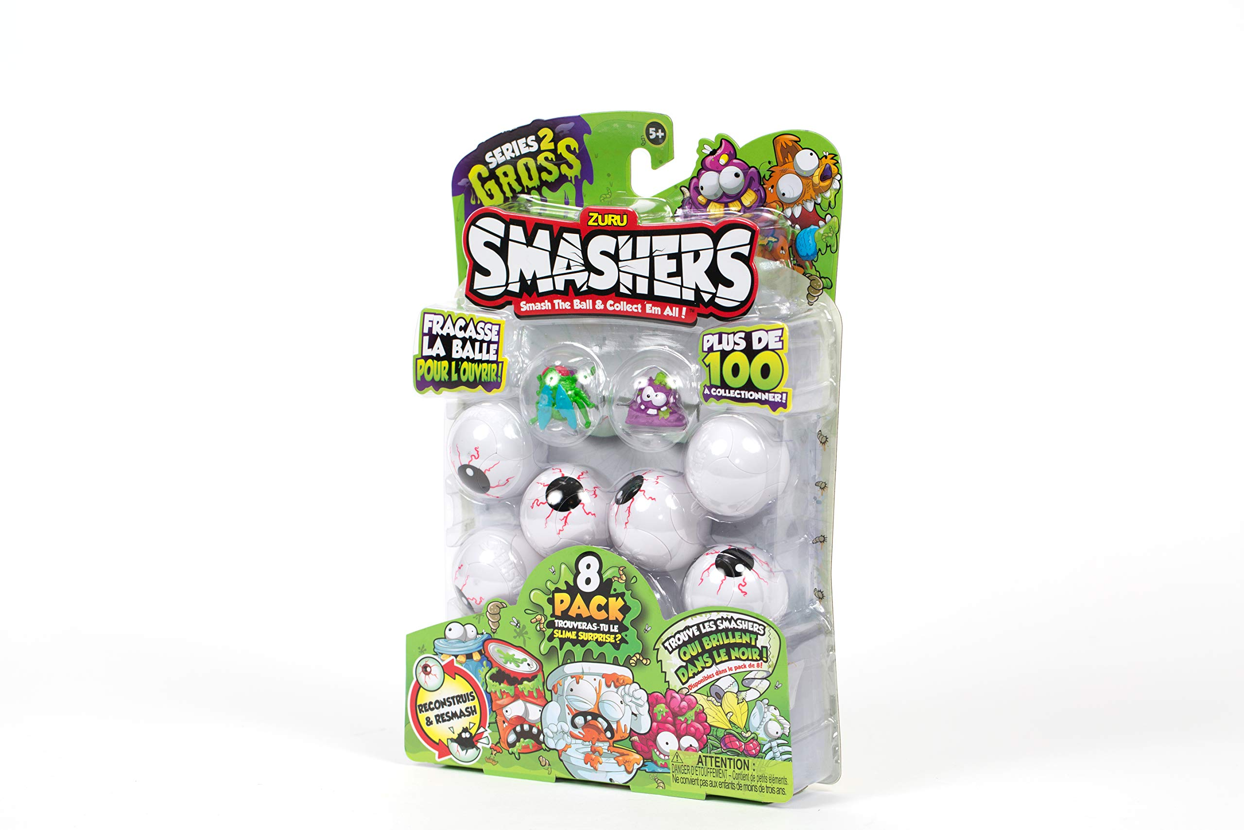 Smashers Smash Ball Collectibles Series 2 Gross by ZURU (8 Pack)