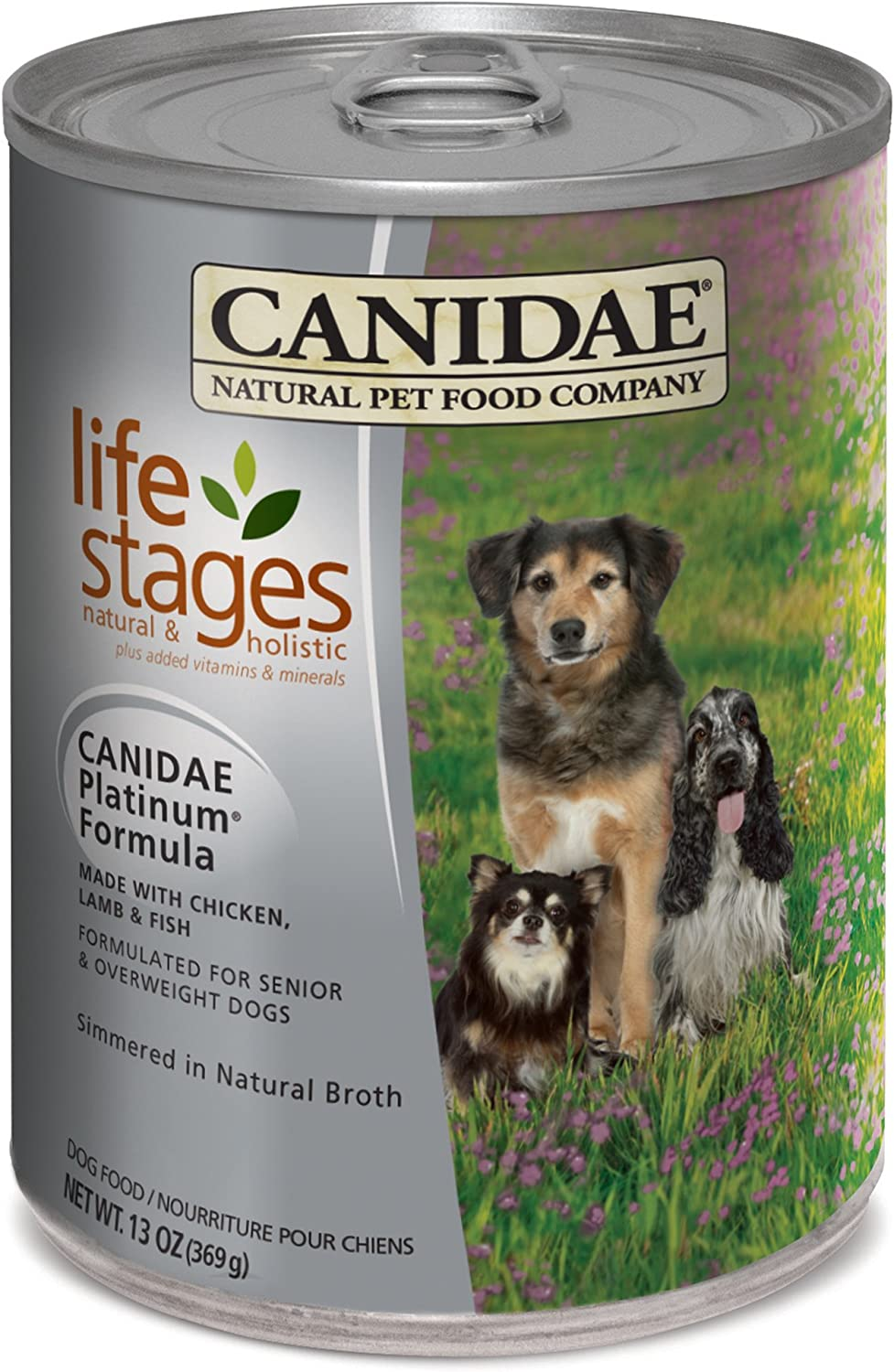 Canidae All Life Stages Platinum Less Active Dog Wet Food Chicken, Lamb & Fish Formula, 13 Oz (12-Pack)