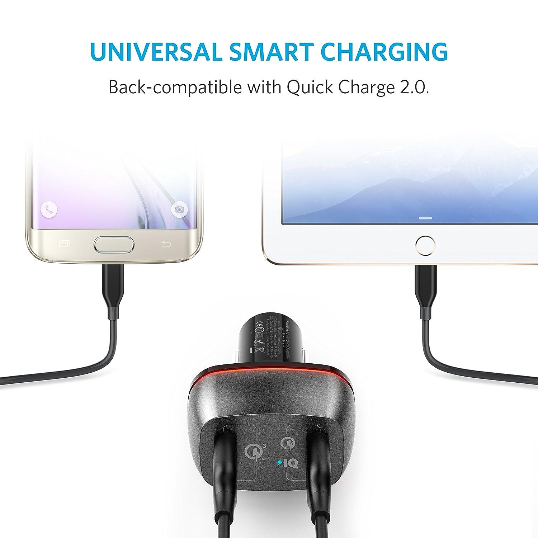 2 42W 2 Port USB USB Kfz Ladeger/ät Anker PowerDrive 4 und PowerIQ f/ür Phone XS Max//XR//XS//X//8//8 Plus,iPad Pro //Air 2 //mini,LG,Nexus,HTC usw Quick Charge 3.0 f/ür Galaxy S8//S7//Plus Note 5