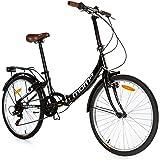 "Moma Bikes Plegable Ruedas 24"" Shimano. Aluminio Bicicleta, Unisex Adulto"