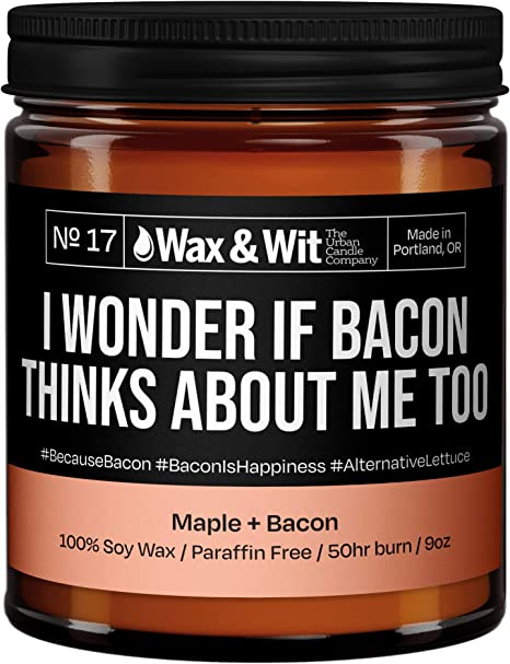bacon soy wax melts gift for him novelty candle 6 bacon wax melts food candle bacon gift bacon candle Bacon scented wax melts