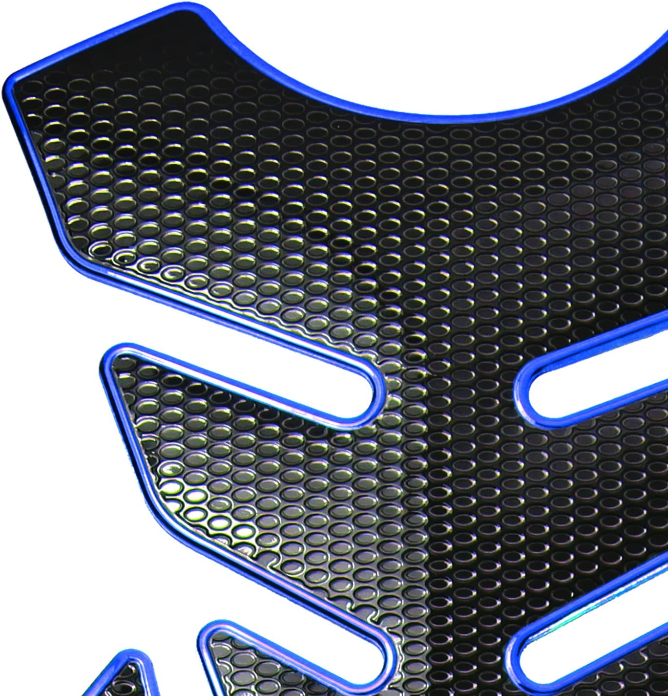 ExtremePowersports 3D 4PCs Customize Fuel//Gas Tank//Side Knee Pad Decal//Sticker Protector Perforated Black+Chrome Silver